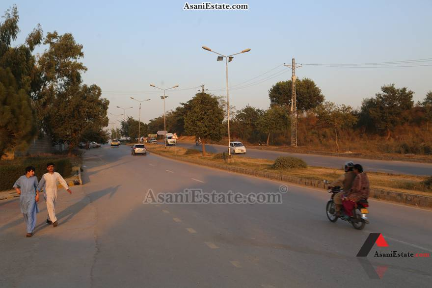 Street View 1400 sq feet 6.2 Marlas flat apartment for rent Islamabad sector E 11