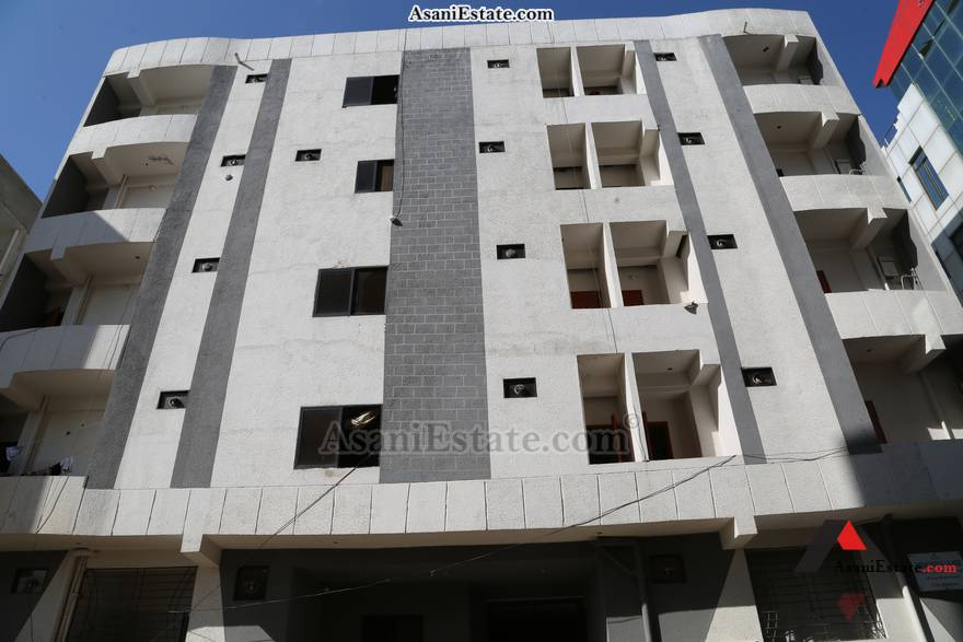 Outside View 1450 sq feet 6.4 Marlas flat apartment for rent Islamabad sector E 11